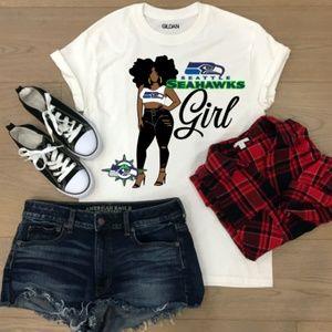 Tops - Custom Nfl Seahawks T-shirt